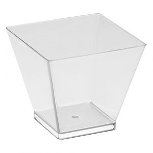 60ml Clear Square Style Bowl