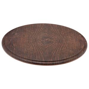 Rustic Wood Effect Round Platter