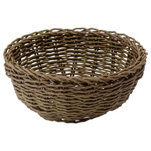 Large Round Poly Wicker Basket