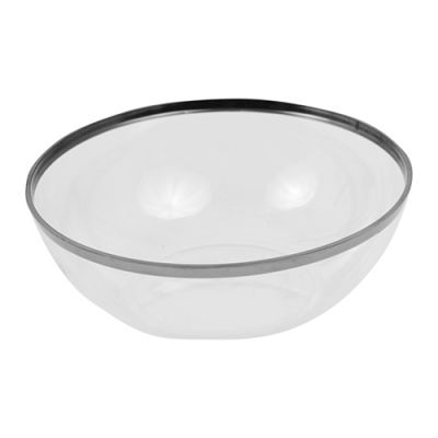 1.5L Clear Bowl with Silver Rim