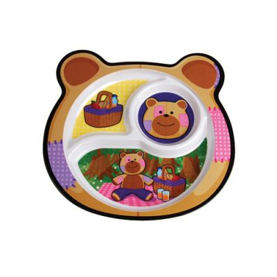 Bear Sectioned Plate