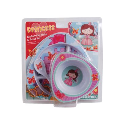 Princess Blister Pack inc Plate, Bowl and Spoon