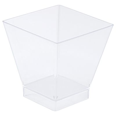 Clear 80ml Square Style Bowl