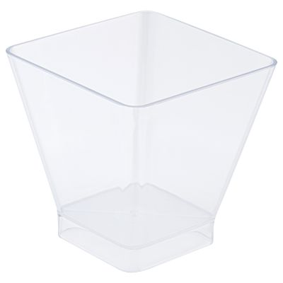 Clear 150ml Square Style Bowl