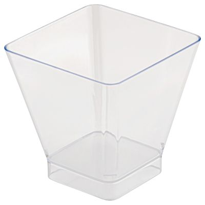 Clear 200ml Square Style Bowl