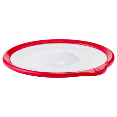 Omni White Saucer with Red Rim