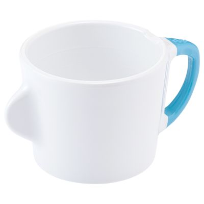 Omni White 200ml Cup with Blue Handle
