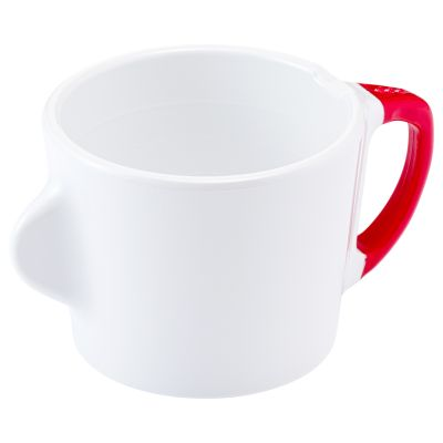 Omni White 200ml Cup with Red Handle