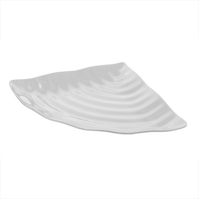 White Curved Wavy Platter