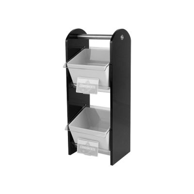 Black Condiment Stand (Double)
