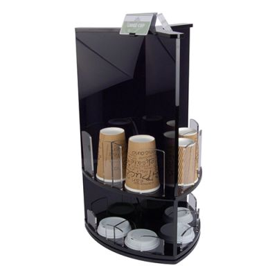 Black Acrylic Coffee Cup Lid Stand