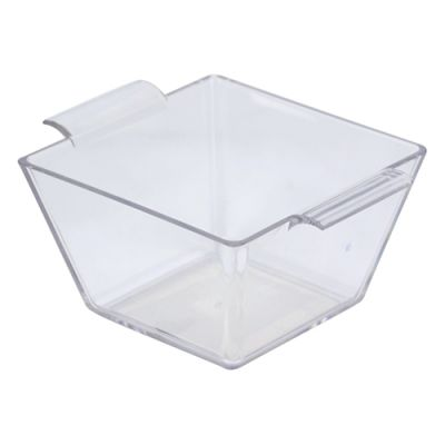 Clear Square 75ml Finger Food Dish