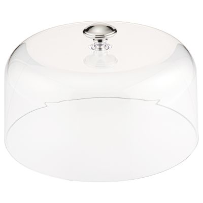 Clear Dome Lid with Chrome Handle