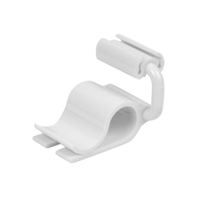 White Polycarbonate Adjustable Ticket Clamp  20mm
